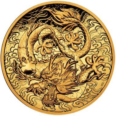 Chinesische Mythen und Legenden - Der Drache 2 Unzen Gold