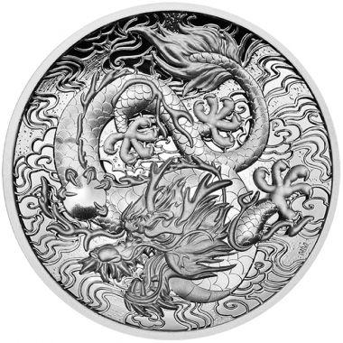 Chinesische Mythen und Legenden - Der Drache 2 Unzen Silber