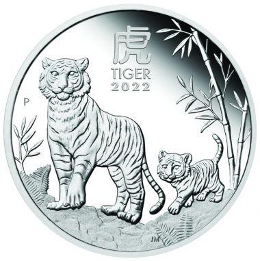 Lunar Tiger 1/2 Unze Silber