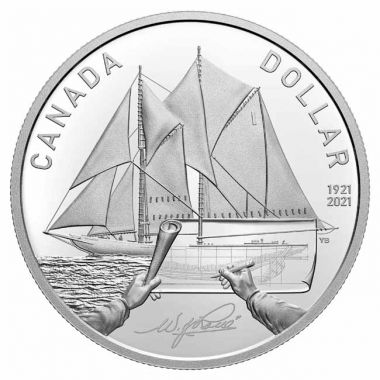 100 Jahre Bluenose<br />2021 Silver Proof Dollar