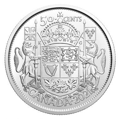 25x 50 Cents Rolle: 100 Jahre Wappen von Kanada