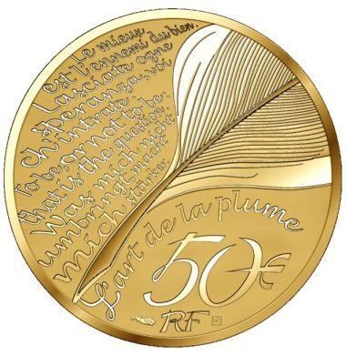 Jean De La Fontaine 1/4 Unze Gold - Start der neuen Serie Die Kunst des Stiftes