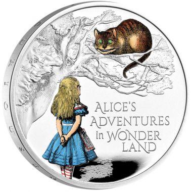 Alice im Wunderland 1 Unze Silber