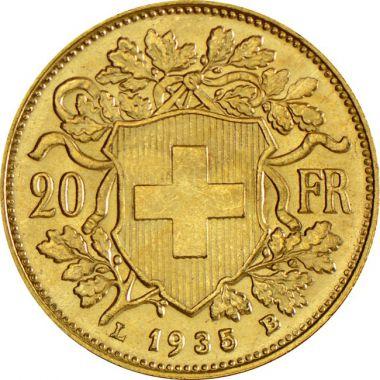 Schweiz 20 Franken Vreneli Gold