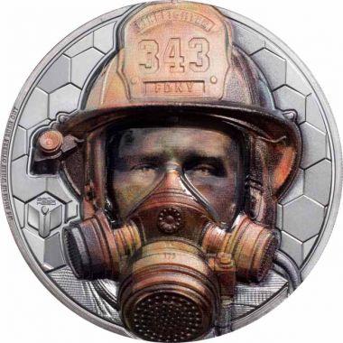 Wahre Helden - Feuerwehrmann 3 Unzen Silber Ultra High Relief