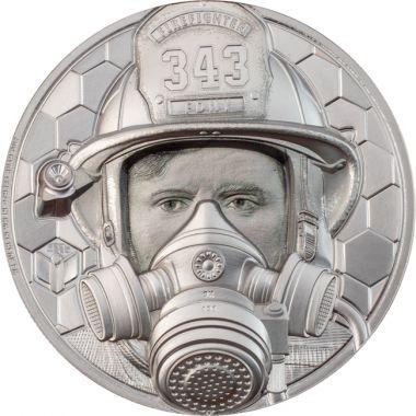 Wahre Helden - Feuerwehrmann 1 Unze Platin