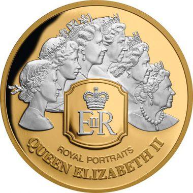 Royal Portraits 1 Unze Gold mit Platinbeschichtung
