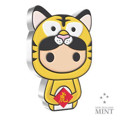 Chibi: Lunar Jahr des Tigers 1 Unze Silber