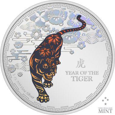 Lunar: Jahr des Tigers 1 Unze Silber