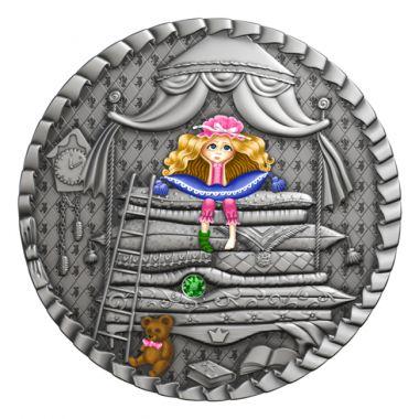Die Prinzessin auf der Erbse 1 Unze Silber
