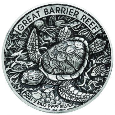 Schildkröte 2 Kilo Silber - extrem limitiert!