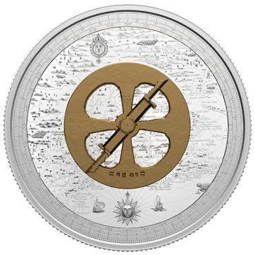 Champlain und der Astrolab 5 Unzen Silber PP