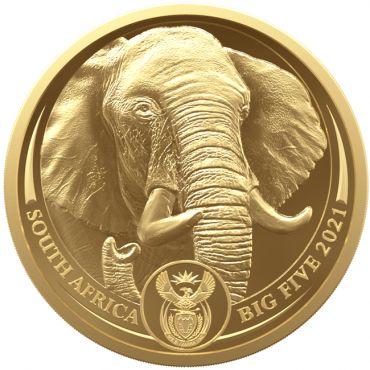 Big Five II - Elefant 1 Unze Gold PP