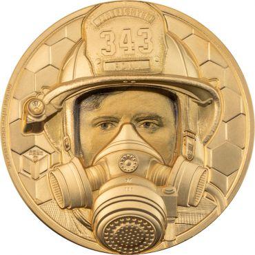 Wahre Helden - Feuerwehrmann 1 Unze Gold Ultra High Relief