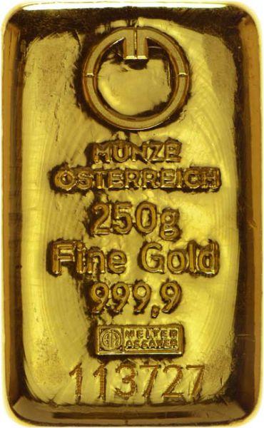 Münze Österreich Goldbarren 250 g